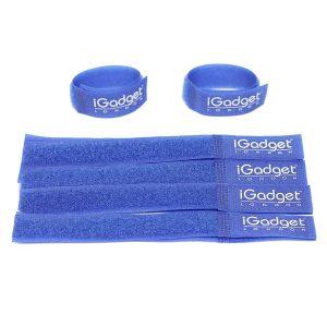 iGADGET® Top Rated #1 Heavy Duty Reusable Hook & Loop Fastener Strap (Blue)